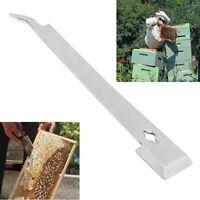 Imker Polierter Edelstahl J-Form Haken Hive Schaber Bienenstock Bienen Werkzeug