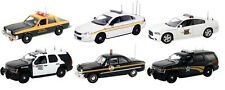 SET OF 6 POLICE CARS RELEASE #2 IN CASES 1/43 FIRST RESPONSE REPLICAS FR-43-R02