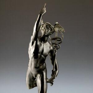 """Merkur"" nach Jean de Bologne Bronze Skulptur 78 cm Italien Klassik Hermes"