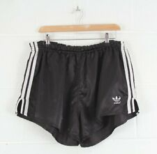 Vintage ADIDAS Black Nylon Sports Track Shorts Size Men's Medium W32 L12