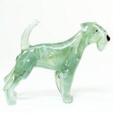Original Blown Glass Figurine Handmade Dog Kerry Blue Terrier. Murano Art. Video