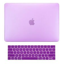 2in1 Purple Matte Hard Case+Keyboard Skin for Macbook Pro 15 WITH Touch Bar
