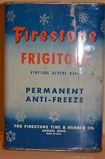 Vintage Firestone Permanent Anti Freeze Gallon Can Gas & Oil Advertising collect
