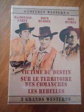 // NEUF COFFRET 3 DVD LOT WESTERN VICTIME DESTIN / TERRITOIRE COMANCHES REBELLES