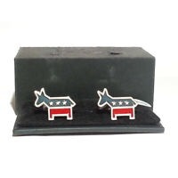 Ravi Ratan Men 925 Sterling Silver Cufflinks Democratic Party Donkey USA