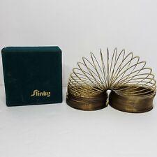 Vintage Original Slinky Brass Limited Edition with Green Felt Box