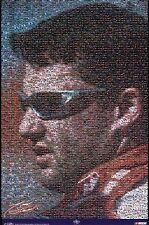 New Tony Stewart NASCAR Racing Mosaic Collage Poster 24 x 36