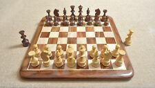 Combo of Reproduced Vintage Soviet Chess Set with Wooden Board in Sheesham Wood