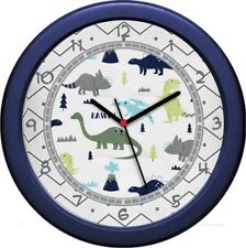 Blue & Green Mod Dino Wall Clock Child's room decor