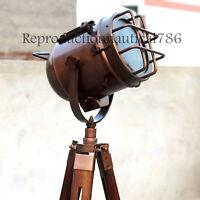 Vintage Retro Marine Tripod Spotlight Searchlight Floor Lamp Nautical Floor Lamp