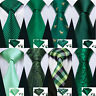 USA Mens Tie Ties Lot Set Silk Classic Green Necktie Solid  St Patrick'sDay