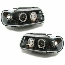 VW Polo Mk4 6N 94-99 Black Projector Angel Eye Headlights  1 pair