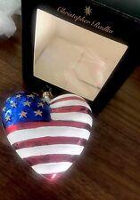 CHRISTOPHER RADKO BRAVE HEART PATRIOTIC 9/11 FLAG CHRISTMAS ORNAMENT W/box