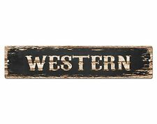 SP0493 WESTERN Street Sign Bar Store Cafe Office Restaurant Chic Decor Gift