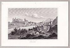 Füssen, Lech, Landsberg, Gesamtansicht, Stich, Stahlstich von Poppel 1846
