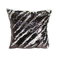 """Two Decorative Fun Mermaid Sequin Throw Pillows 17""""x17"""" Living Room Sofa Cushion"""