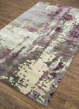 Modern Classic Gray/Mauve Color 5X8 Feet Wool and Viscose Hand Tufted Rug