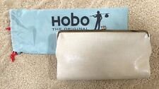 Nwt Women's Hobo Leather Double Frame Clutch Wallet, Lauren, Bisque (Off White)