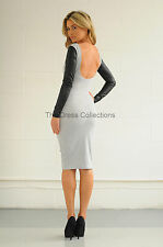 Faux Leather Stretch, Bodycon Casual Dresses