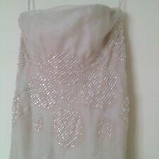 J. MENDEL DRESS HAND BEADED STRAPLESS SILK GOWN/DRESS/WEDDING