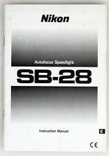 NIKON SB-28 SPEEDLIGHT INSTRUCTION MANUAL
