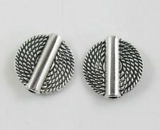 120pcs Tibetan Silver Flat Round annual ring Spacer Beads 14.5x4mm ZN13532