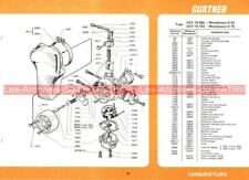 MOTOBECANE D 52 D 75 D52 D75 Fiche Carburateur GURTNER GCV 16 655 703