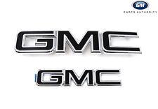 2015-2018 GMC Yukon Black Emblem Kit 84395036 Front & Rear Genuine OEM GM