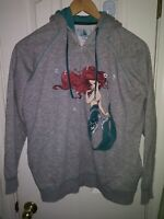 2013 Disney XL ART OF ARIEL The Little Mermaid Fashion Zip Jacket Hoodie Rare