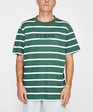 c752bebcf Guess Originals Green White Striped Tee T-Shirt Size M Medium Stripes