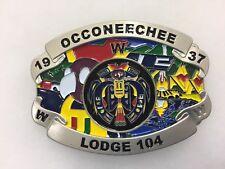 Boy Scouts-  Occoneechee Lodge 104 - beautiful belt buckle (104 made)