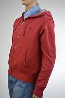 Ralph Lauren Light Red Hoodie Full-Zip Sweatshirt/ Blue Pony NWT $125