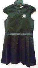 HELLO KITTY Sanrio Black Taffeta Cap Sleeve Lined Pleated Dress Rare 8-10 Girls