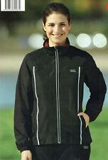 Damen Laufjacke Walkingjacke Sportjacke Jacke wind-/wasserabweisend schwarz/rot