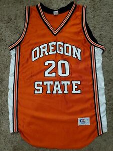 Vtg Cliff Keen Athletic Autographed Gary Payton Oregon State Beavers Away Jersey