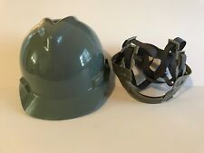 MSA 463948 Gray V-Gard Slotted Hard Hat Protective Cap Staz-On Suspension