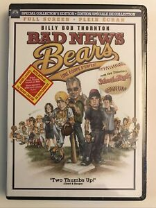 Bad News Bears DVD 2005 Full Screen Special Collector's Edition Billy Bob Coach