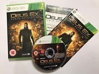 XBOX 360 GAME DEUS EX HUMAN REVOLUTION +BOX & INSTRUCTIONS COMPLETE PAL