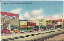 Business Section in Rocky Mount NC Postcard