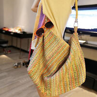 Neu Sommer Damentasche Shopper Strandtasche Badetasche Straw Tasche Groß
