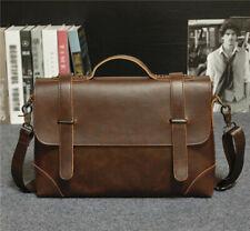 HOT Business Men's Leather Vintage Briefcase Messenger Shoulder Laptop Bags