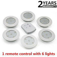 6PCS LED Wireless Kitchen Counter Under Cabinet Closets Lighting Puck  Light HV