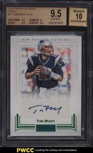 2012 Panini Playbook Green Tom Brady AUTO /5 #47 BGS 9.5 GEM MINT