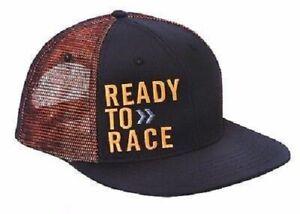 KTM READY TO RACE LOGO HAT BLACK/ORANGE ADJUSTABLE SNAPBACK LOGO CAP WAS $30.00