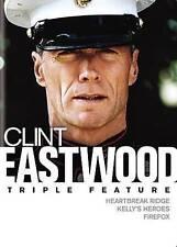 Clint Eastwood Triple Feature: Heartbreak Ridge/Kellys Heroes/Firefox (DVD, 2016