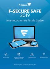 F-Secure SAFE 2019 5 Geräte ca. 1 Jahr Laufzeit in 19 Sprachen Win/Android/Mac