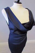 Vestido Elástico PHASE ocho KRISTEN-Talla 10-Azul Marino-Capucha Cuello