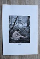 Jugendstil Kunst Blatt 1905 Erotik Frau HALBSCHLAF Akt Nude Erotic Risque nackt
