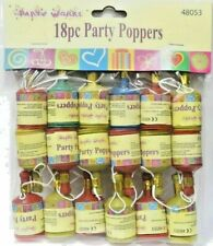 18 pieces Party Poppers - Hen/Stag Night, Birthday, Fun For All Occasions A***