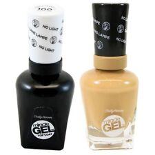 Sally Hansen Miracle Gel Nail Color How Nude and Top Coat Nail Polish Set...